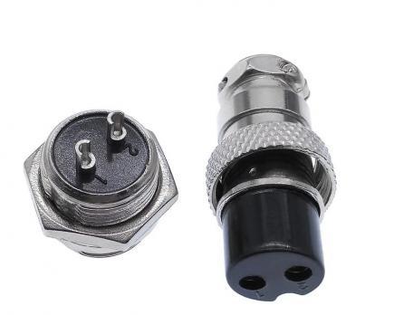 GX16-4 pin 16 мм (розетка-вилка)